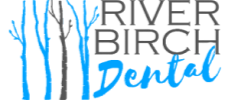 River Birch Dental logo in blue and black